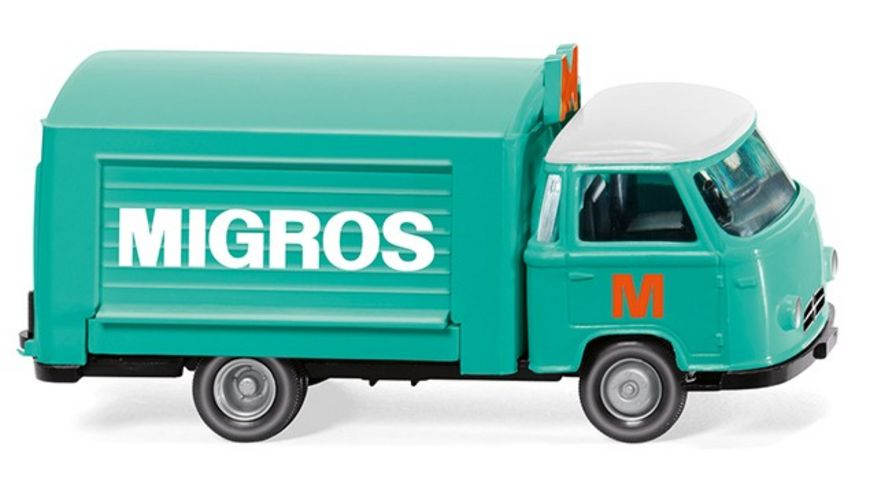 Wiking 027901 Verkaufswagen Borgward Migros