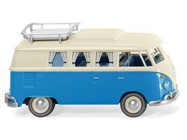 Wiking VW T1 Campingbus perlweiss blau