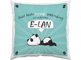 Hope und Gloria Baumwoll Kissen mit Tier Motiv Panda Baer E LAN 45665
