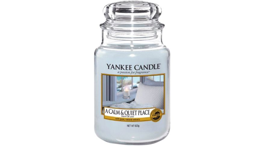 YANKEE CANDLE Große Duftkerze im Glas – A CALM AND QUIET PLACE