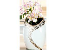 GILDE Keramik Ovalvase Cerosa 16x20