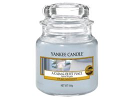 YANKEE CANDLE kleine Duftkerze im Glas A CALM AND QUIET PLACE