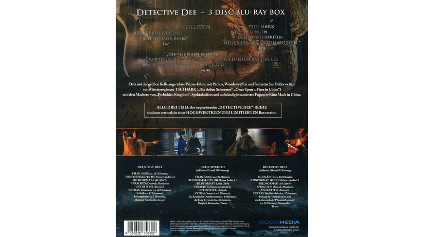 Detective Dee Trilogiebox 3 BRs