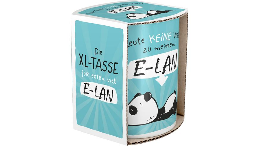Hope und Gloria XL Jumbo Tasse mit Panda Motiv E LAN 45673