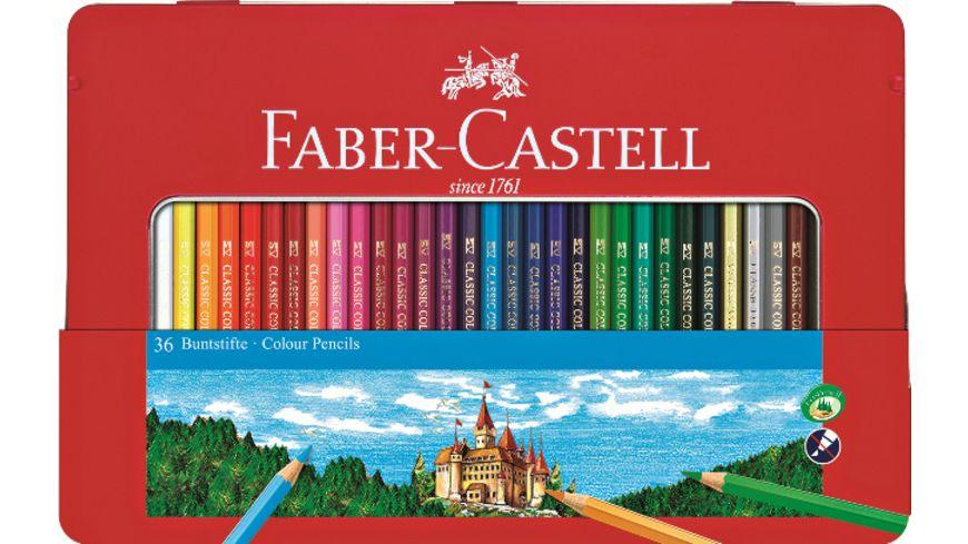 FABER CASTELL Buntstifte 36er Metalletui