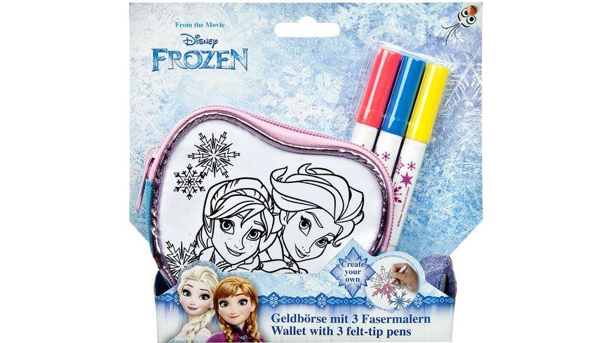 Undercover Frozen Create your own Geldboerse mit 3 Fasermalern