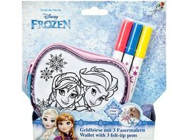 Undercover Frozen Create your own Geldboerse mit 3 Fasermalern