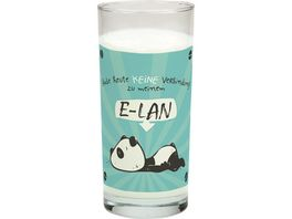 Hope und Gloria Trink Glas mit Tier Motiv Panda Baer E LAN 45666