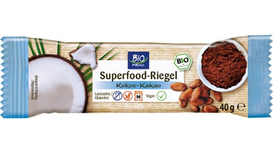 BIO PRIMO Superfood Riegel Kokos Kakao