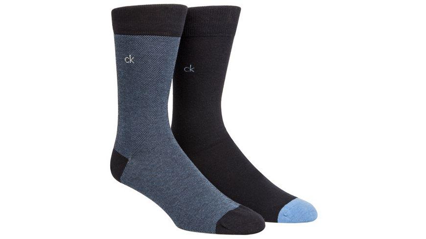 Calvin Klein Herren Socken mit Birdseye Muster 2er Pack