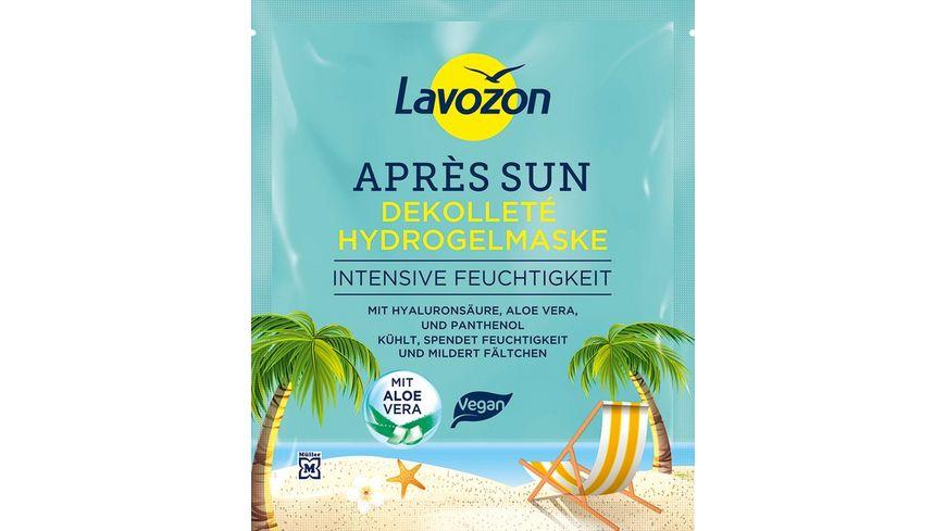 LAVOZON Apres Sun Dekollete Hydrogel Maske