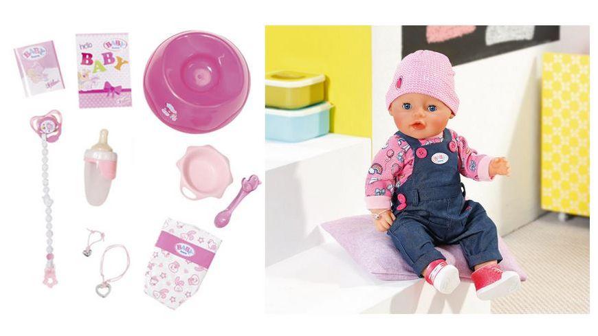 Zapf Creation Baby born Soft Touch Jeans Girl mit exklusivem Outfit und Zubehoer