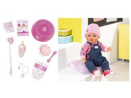 Zapf Creation Baby born Soft Touch Jeans Girl mit exklusivem Outfit und Zubehoer