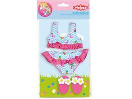 Heless Flamingo Bikini mit Badeschlaeppchen Gr 35 45 cm