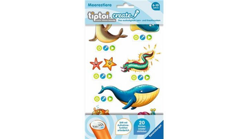 Ravensburger Spiel tiptoi CREATE Sticker Meerestiere