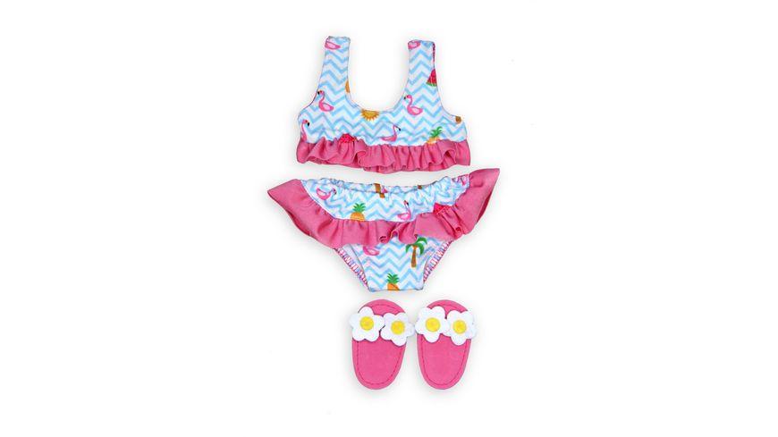Heless Flamingo Bikini mit Badeschlaeppchen Gr 28 35 cm