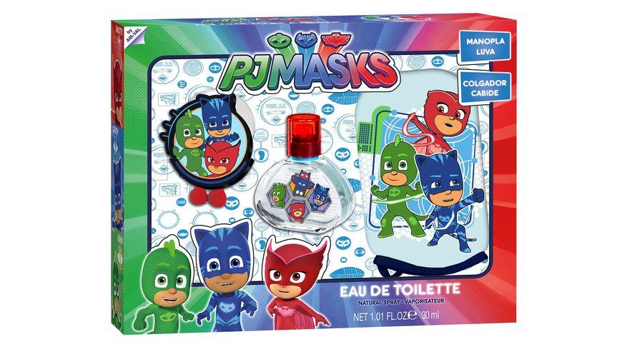Air Val PJ Masks Geschenkset EDT 30ml Waschhandschuh Haken