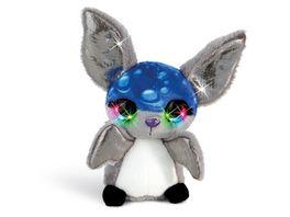 NICIdoos Flashies Kuscheltier Fledermaus Pipp mit LED Augen 12 cm