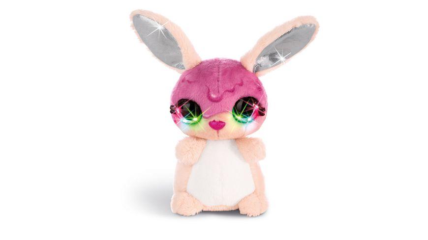 NICIdoos Flashies Kuscheltier Hase Tofflemoffle mit LED Augen 12 cm