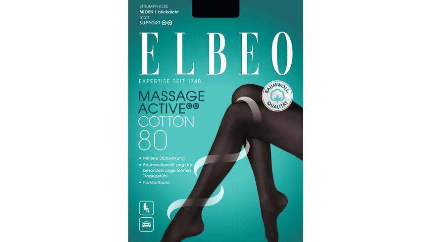 ELBEO Damen Strumpfhose Massage Active 80