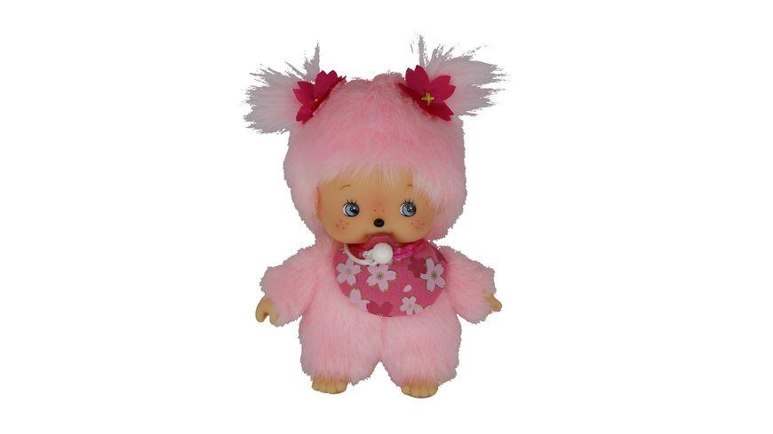 Monchhichi Bebichhichi Maedchen Kirschbluete rosa 16 cm