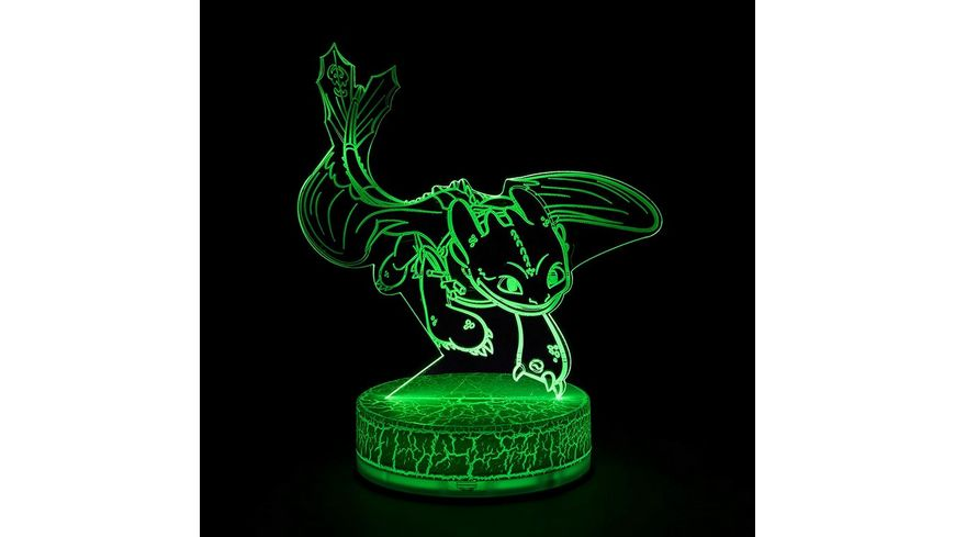 Joy Toy Dragons LED Lampe mit Schablonen