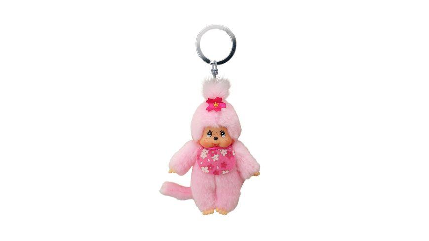 Monchhichi Monchhichi Schluesselanhaenger Pink Lady 10 cm