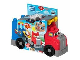 Fisher Price Mega Bloks Tracks Rennwagen Transporter