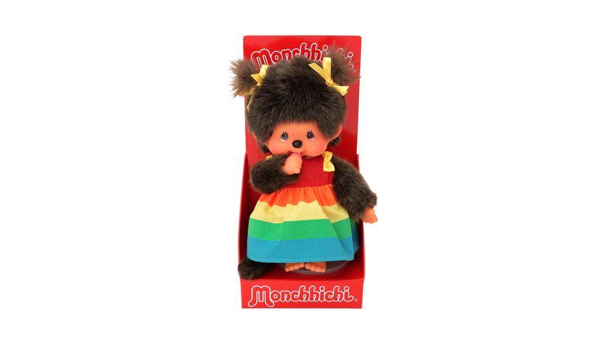 Monchhichi Maedchen Regenbogen 20 cm