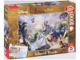 Schmidt Spiele Erwachsenenpuzzle Thomas Kinkade Disney Die Schoene und das Biest 1000 Teile
