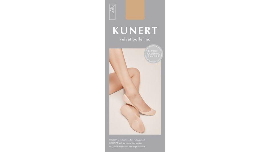 KUNERT Fuesslinge Ballerina Velvet