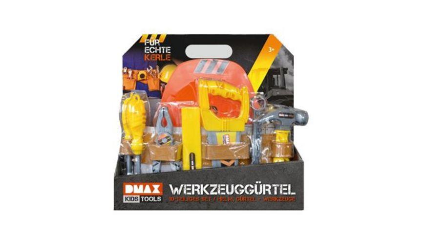 DMAX KIDS TOOLS WERKZEUGGUERTEL MIT HELM