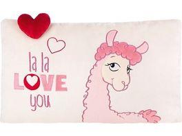 NICI LA LA LAMA LOVE Kissen 43x25cm