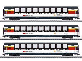 Maerklin 43650 Schnellzugwagen Set Gotthard Panorama Express