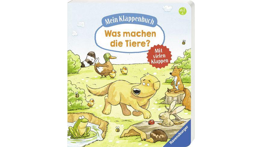Mein Klappenbuch Was machen die Tiere