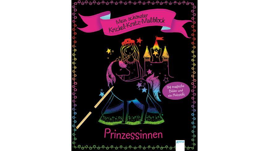 Mein schoenster Krickel Kratz Malblock Prinzessinnen