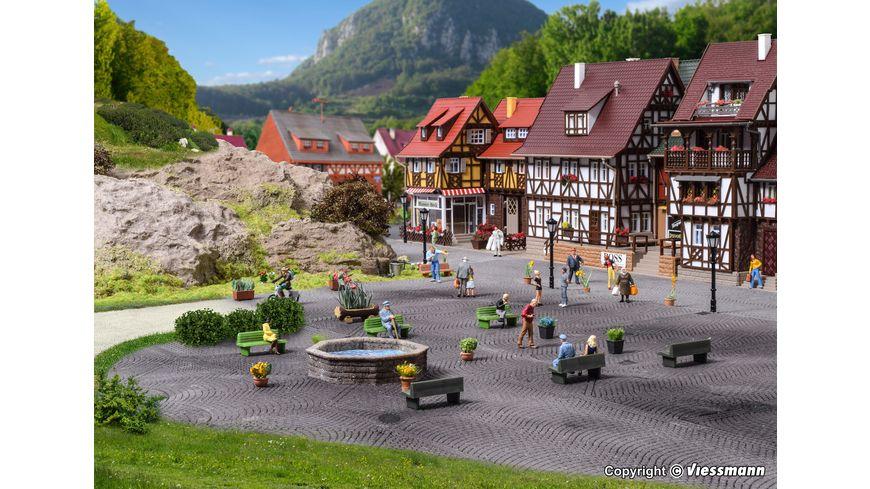 VOLLMER 48270 - H0 Steinkunst-Set Brunnen und Felsen