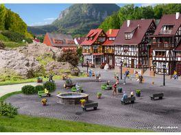 VOLLMER 48270 H0 Steinkunst Set Brunnen und Felsen