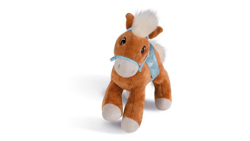 NICI Soulmates Kuscheltier Pferd Leotie mit Zaumzeug und Sattel 10 cm