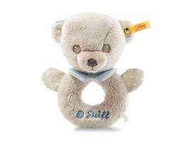 Steiff Hello Baby Levi Teddybaer Greifring mit Rassel in Geschenkbox 15 cm