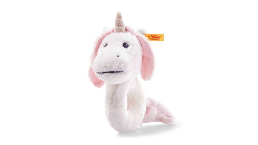 Steiff Soft Cuddly Friends Unica Babe Einhorn Greifring mit Rassel 14 cm