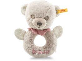 Steiff Hello Baby Lea Teddybaer Greifring mit Rassel in Geschenkbox 15 cm