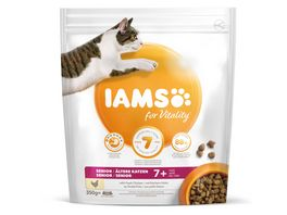 IAMS for Vitality Senior Katzen Trockenfutter mit frischem Huhn