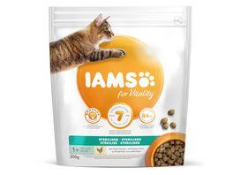 IAMS for Vitality Adult Trockenfutter fuer sterilisierte Katzen mit frischem Huhn