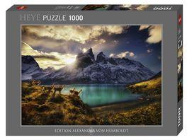 Heye Standardpuzzle 1000 Teile Alexander von Humboldt Guanacos