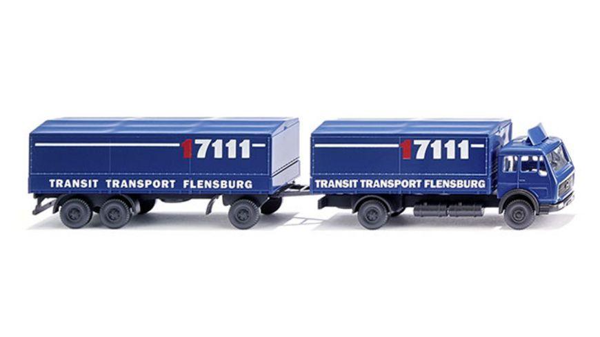 WIKING 0940 06 Pritschenlastzug MB Transit Transport