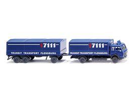 WIKING 094006 Pritschenlastzug MB Transit Transport