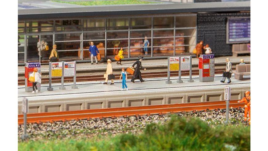 Faller 222111 N Moderner Bahnsteig mit Zubehoer