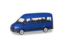 Herpa 093743 MAN TGE Bus ultramarinblau