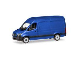 Herpa 093811 Mercedes Benz Sprinter 18 Kasten Hochdach ultramarinblau